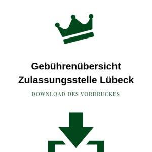 Gebührenübersicht Zulassungsstelle Lübeck